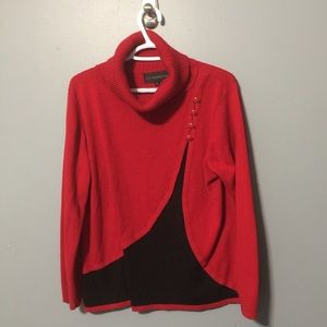 La Madonna Red And Black Cowlneck XL sweater